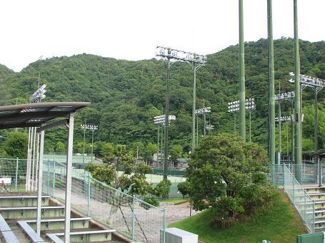 徳島のテニス会場